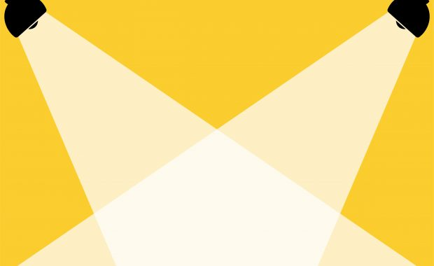 yellow spotlight