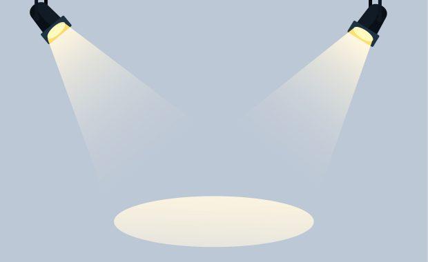 blue-grey spotlight